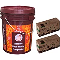 Aaditi stonesoup solutions private limited Te Stackable Aerobic Home No Foul Smell Composting kit (20 L bin with 2 Compost Maker Block)