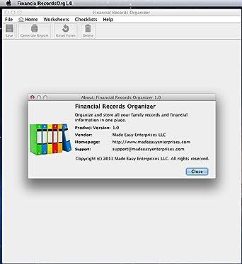 Amazon.com: Financial Records Organizer 1.0 for Mac [Download ...