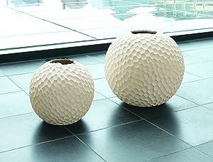 ASA Vase, Stone, White, 21x21x21 cm