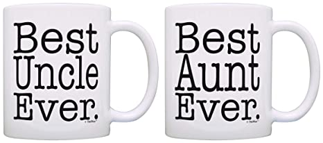 Aunt Uncle Gifts Best Aunt And Uncle Ever 2 Pack Gift Coffee Mugs Tea Cups White