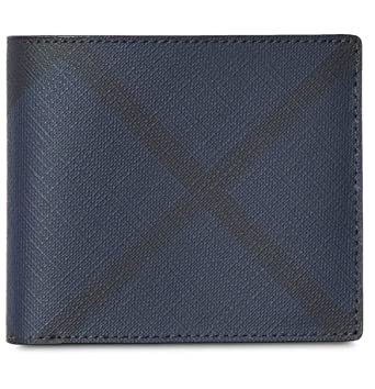 hot-selling cheap Discover retail prices Amazon.com: Burberry Men's Blue Black Bifold Check Wallet ...