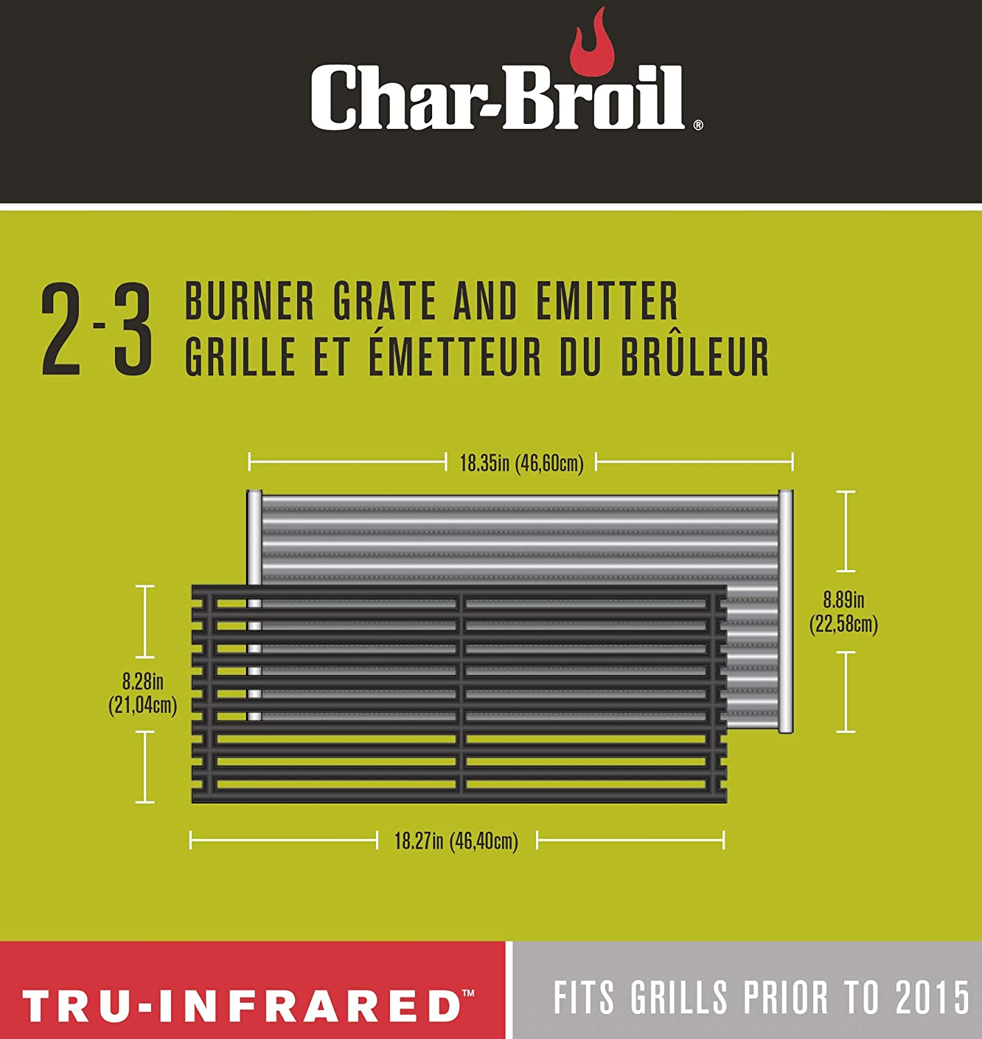 Charbroil Tru-Infrared Grate /& tray combo FOR 2 or 3 burner Grill Prior to 2015