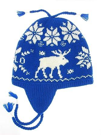 9688f2dcc5e Polo Ralph Lauren Men s Wool Moose Print Tassle Cap  Blue White  at ...
