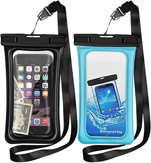 Floating Underwater Case for Cellphone Up to 6.5 Waterproof Phone Pouch for Pool Beach Swimming Kayak Travel 2 Pack Waterproof Phone case