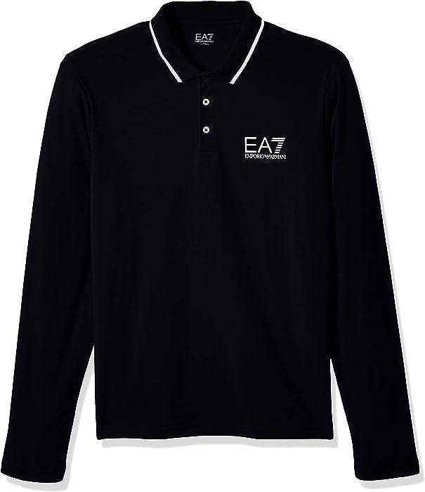 0625e0c3 EA7 Emporio Armani Active Men's Train Core Stretch Long Sleeve Polo, ...