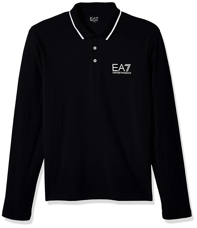 Emporio Armani EA7 Black Train Core ID Pique Polo Shirt-XXL ...
