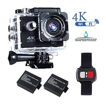 Amazon.com: BrosFuture, cámara 4k Action Camera con ...