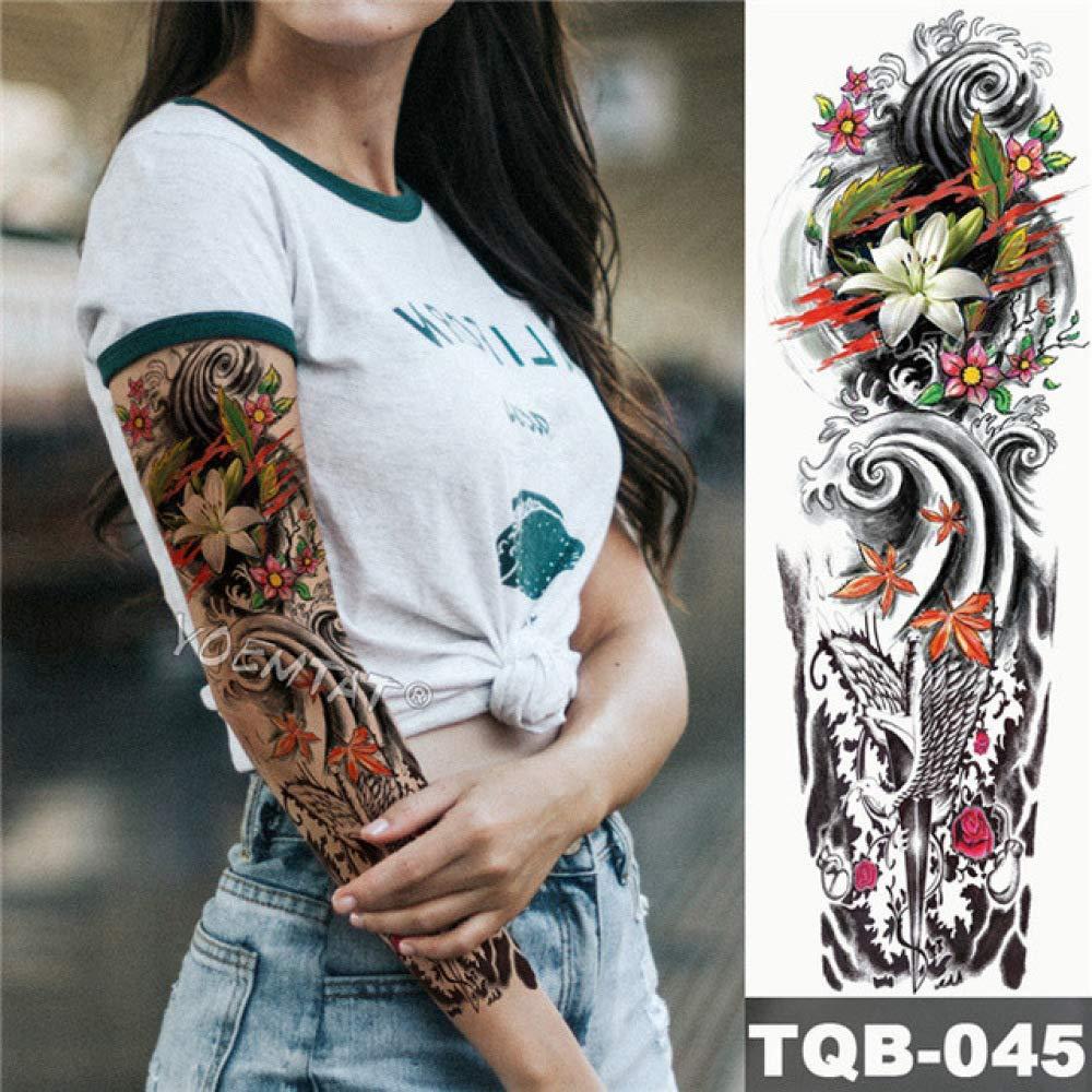 3 piezas tatuaje de manga de brazo grande serpiente de geisha ...