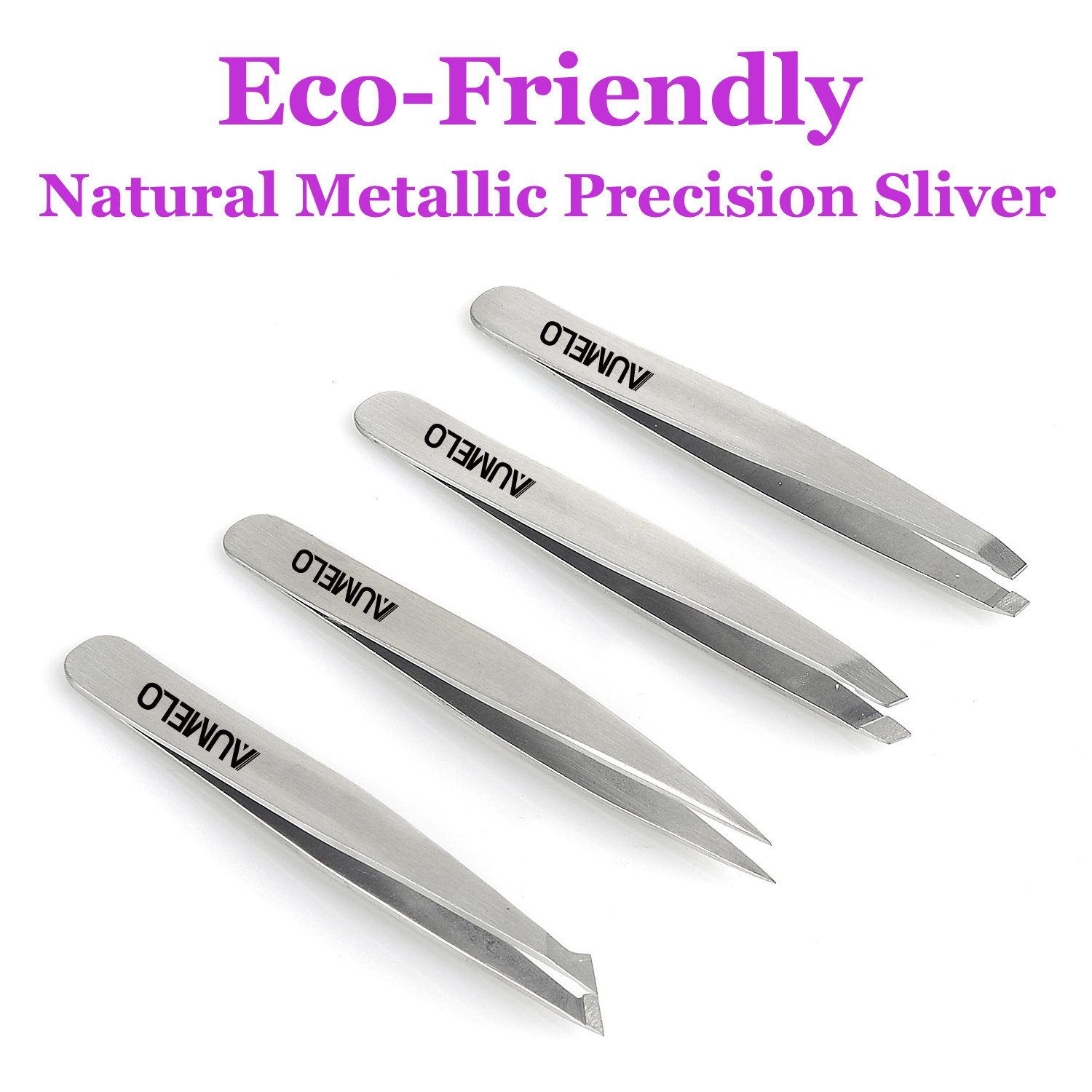 Amazon Tweezers Set 4 Piece Professional Stainless Steel