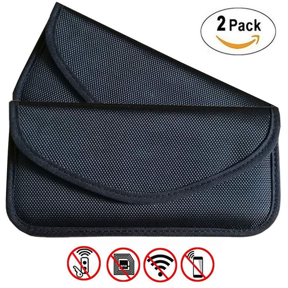 Faraday 車のキーFOB用 バッグ RFID信号ブロックバッグ 2パック シールドポーチ (2個パック) 財布ケース 携帯電話 プライバシー保護 車のキーFOB用 (2個パック) レッド 2パック B07JWF1WT4, K-ART:084b4c3f --- m2cweb.com