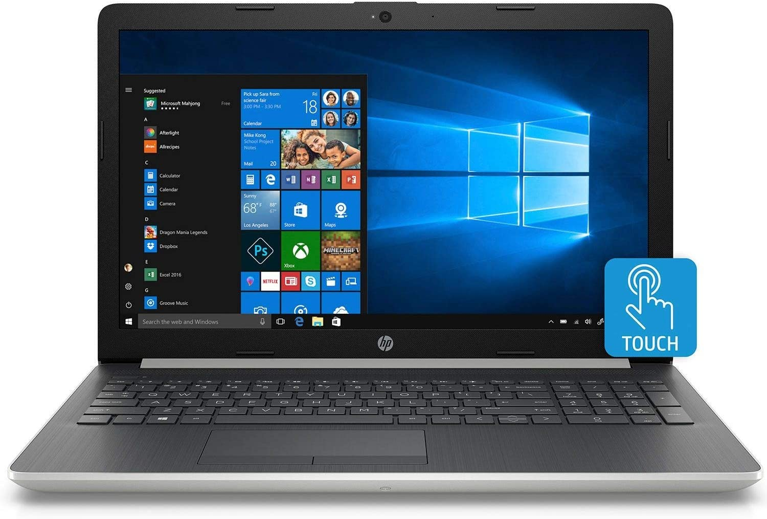 2019 Newest Premium HP Pavilion 15.6 Inch Touchscreen Laptop (Intel 4-Core i7-8565U up to 4.6GHz, 16GB DDR4 RAM, 256GB PCIe SSD, Bluetooth, HDMI, Webcam, Windows 10)