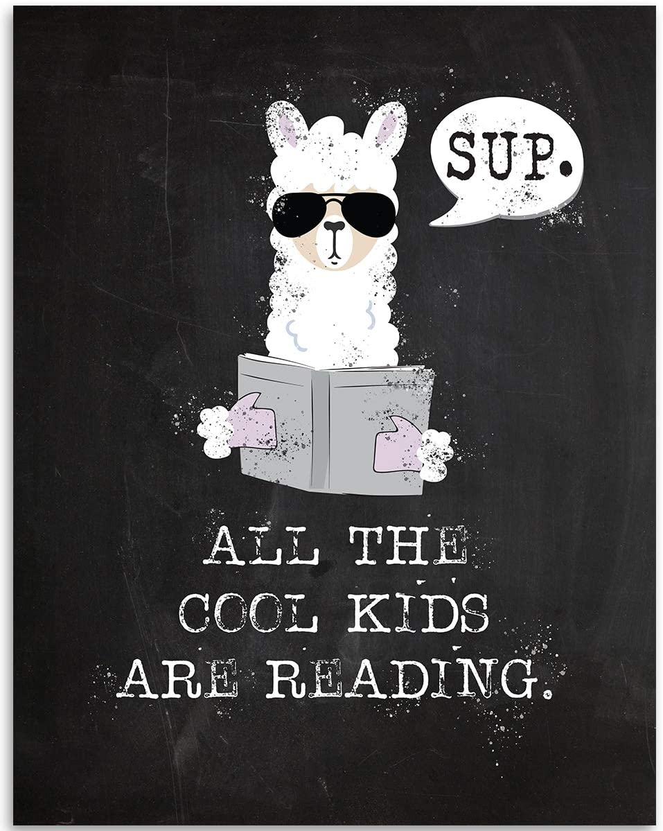 All The Cool Kids Are Reading - 11x14 Unframed Art Print - Great Classroom/Library Decor