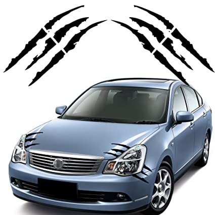 Amazon Com Pair Of Die Cut Monster Claws Scratch Headlight Decal