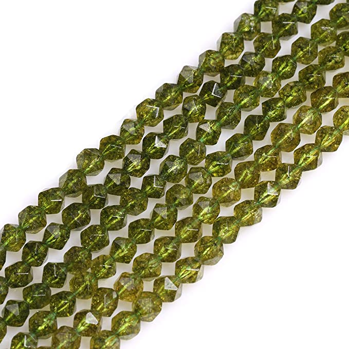 2 Pcs Peridot Green Quartz Top To Bottom Drilled Faceted Fancy Shaped Beads Gemstone Fancy Beads Size 27X10