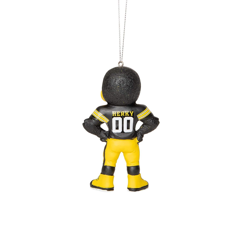 FOCO NCAA Iowa Hawkeyes 5 Resin Mascot Hanging Tree Holiday Ornamet5 Resin Mascot Hanging Tree Holiday Ornamet Team Color One Size