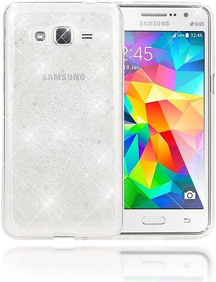 NALIA Coque Protection Compatible avec Samsung Galaxy Grand Prime, Fine Glitter Star Silicone Housse Slim Case Paillettes Cover, Incassable Etui ...