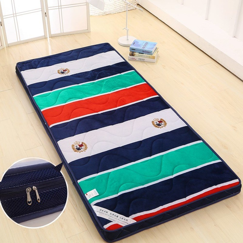 Collapsible Breathable Printed Mattress,Do Not Harden Flannel Tatami mats-Washable and washable 90x190cm(35x75inch)