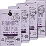 Grandpa's Witch Hazel Bar Soap Soft and Gentle 4.25 Ounce (Pack of 4)