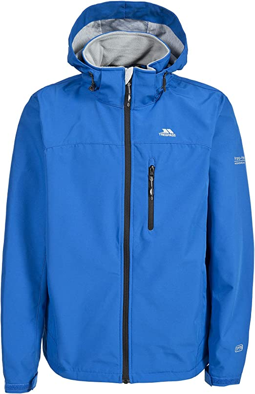 Trespass Nider Mens Windproof Softshell Jacket Breathable Hooded Hiking Coat