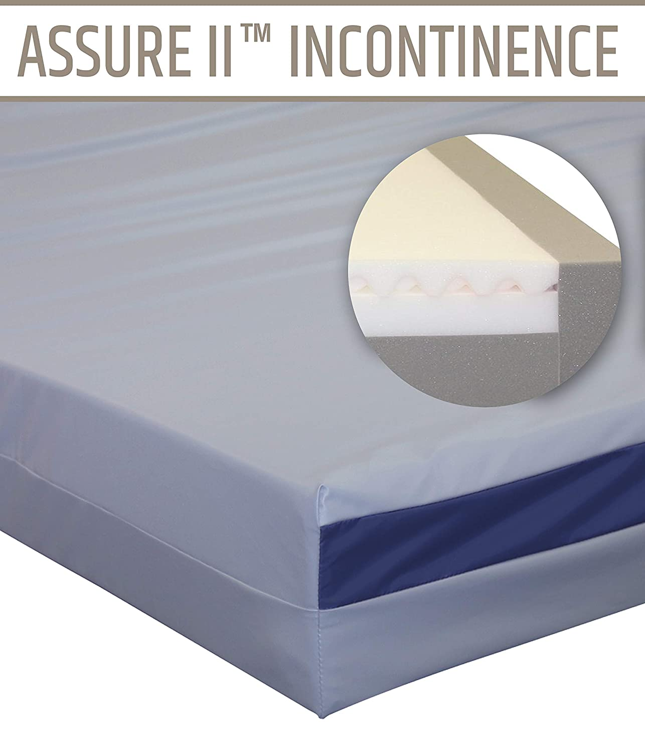 Home Care Nursing Home Therapeutic Water Proof Incontinence Mattress – Queen