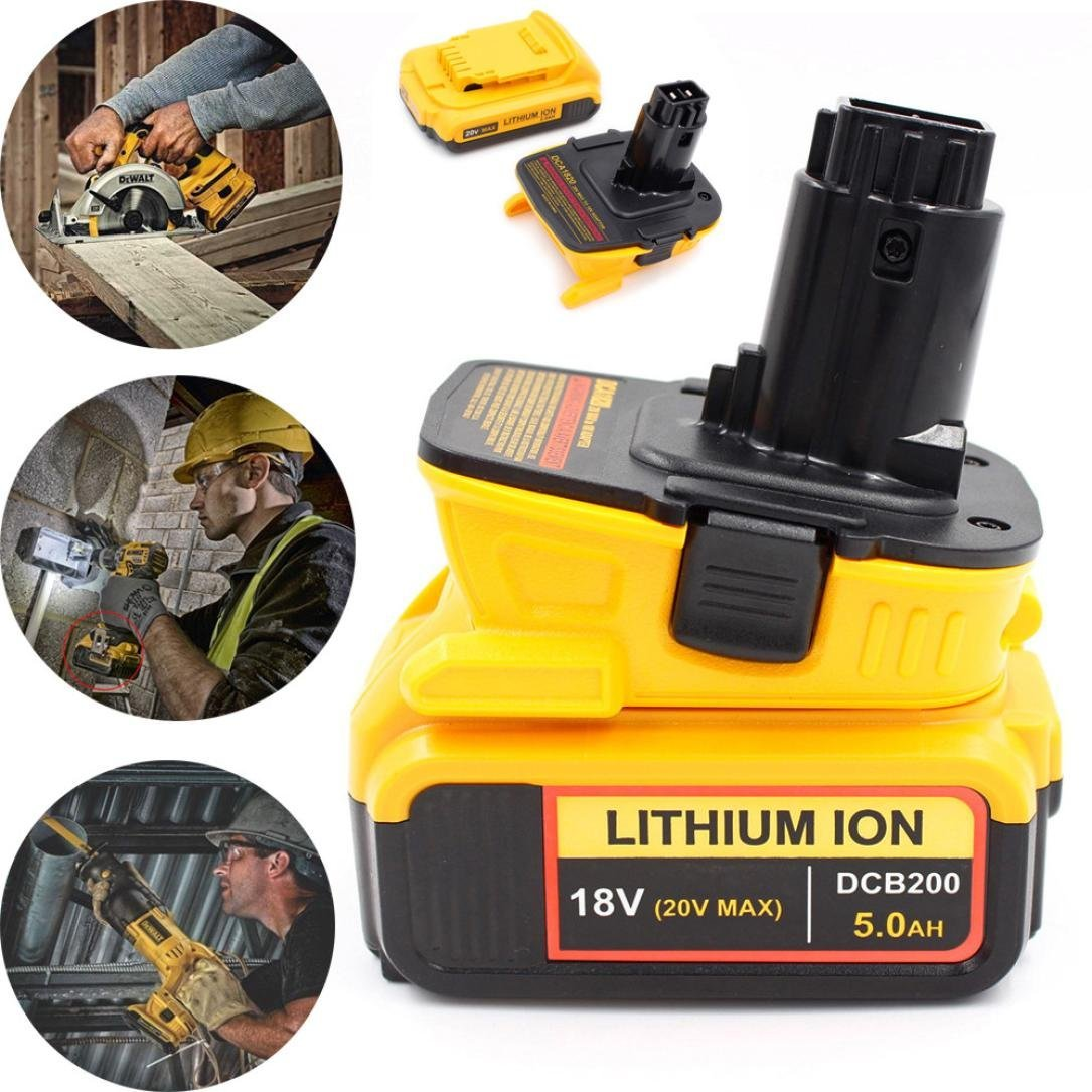 LiPing DCA1820 Adapter For Dewalt 20v 18V Li-ion Battery 2.1A Convert To 18v Tools (Large)