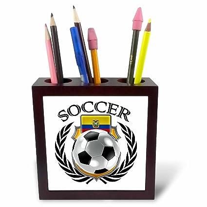 3dRose ph_239692_1 - Soporte para bolígrafo de balón de fútbol con ...