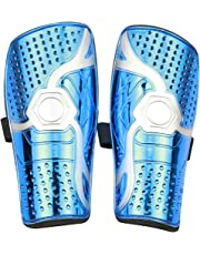 ASEOK Youth Kids Soccer Shin Pad,Child Soccer Shin Pad,1 Pair Lightweight and Breathable Child Calf Protective Gear Soccer Equipment for 6-12Year,Boys, Girls ,Children, Teenagers(blue and yellow