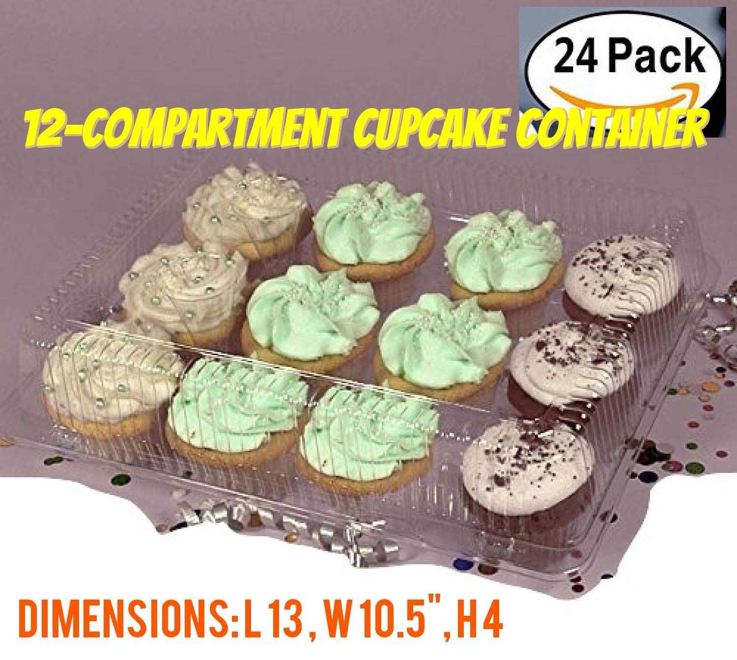 6 Compartment Cupcake boxes 6 Compartment cupcake Containers Holds 6 Cupcakes Each 6 Pack Cupcake Container 4