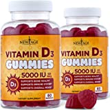 Vitamin D3 5000 IU 125mcg Gummies by New Age - 2 Pack - Support Immune Health - Non-GMO, Gluten-Free, Dairy-Free, No Gelatin