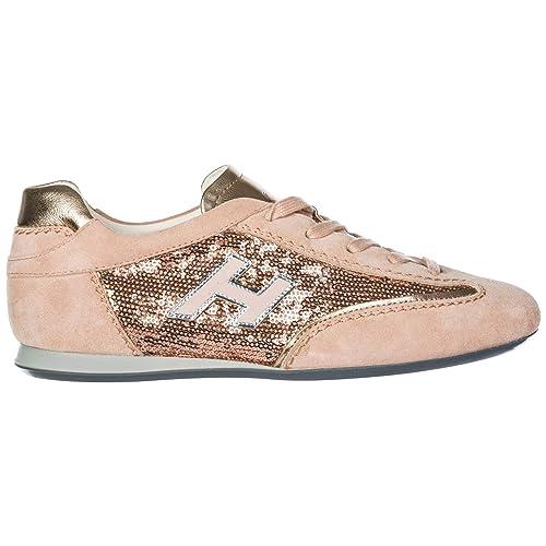Hogan Sneakers Olympia Donna Fenicottero 36 EU  Amazon.it  Scarpe e borse 9453ddfbf79