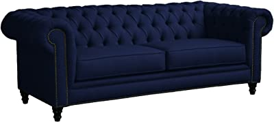 Loni M. Designs Lm-6164 Meagan Sofa, Navy