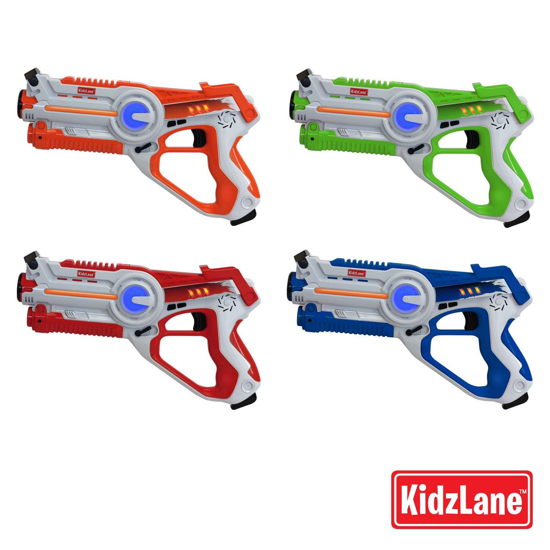 Kidzlane Infrared Laser Tag : Game Mega Pack - Set of 4 Players - Infrared Laser Gun Indoor and Outdoor Group Activity Fun. Infrared 0.9mW by Kidzlane (Image #5)
