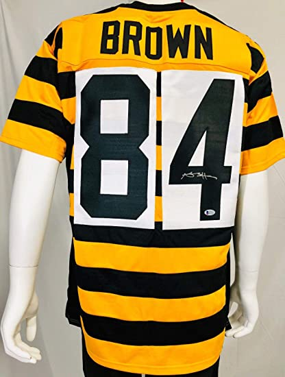 Autographed Antonio Brown Jersey - TB Custom BAS Beckett - Beckett  Authentication - Autographed NFL Jerseys 41dacf207