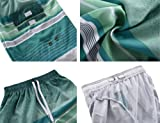 Nonwe Men's Bathing Suits Quick Dry Striped Summer