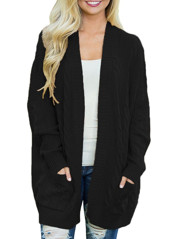 2a2e1c7761 Dearlove Women s Oversized Long Sleeve Open Front Knit Cardigan Sweater  Pocket S-XXL at Amazon Women s Clothing store