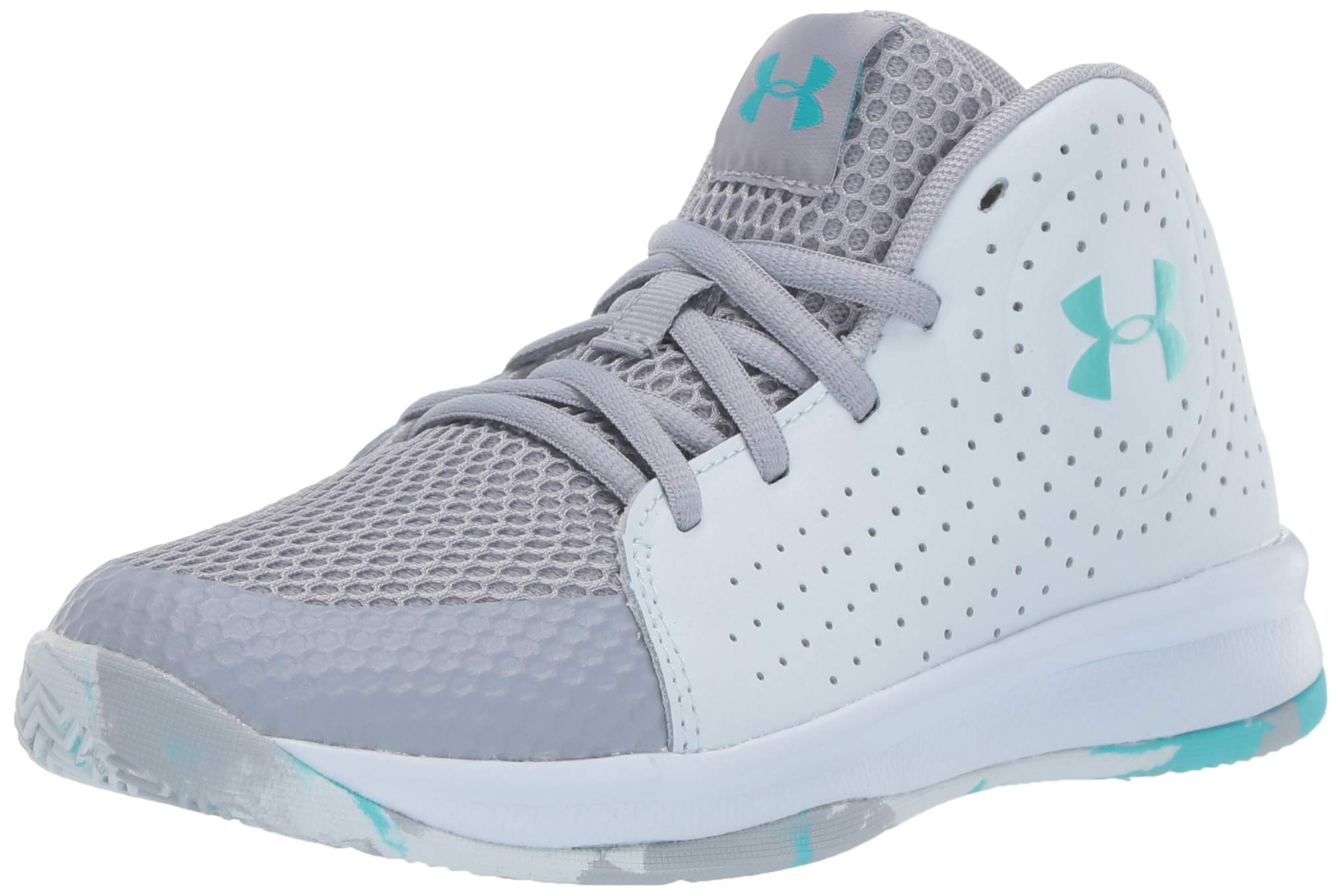 Under Armour Unisex Pre School Jet 2019 Basketball Shoe, Heights (403)/Moonstone Blue, 2 M US Little Kid