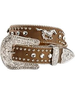 22 Nocona Girls Horseshoe Conchos Belt Brown