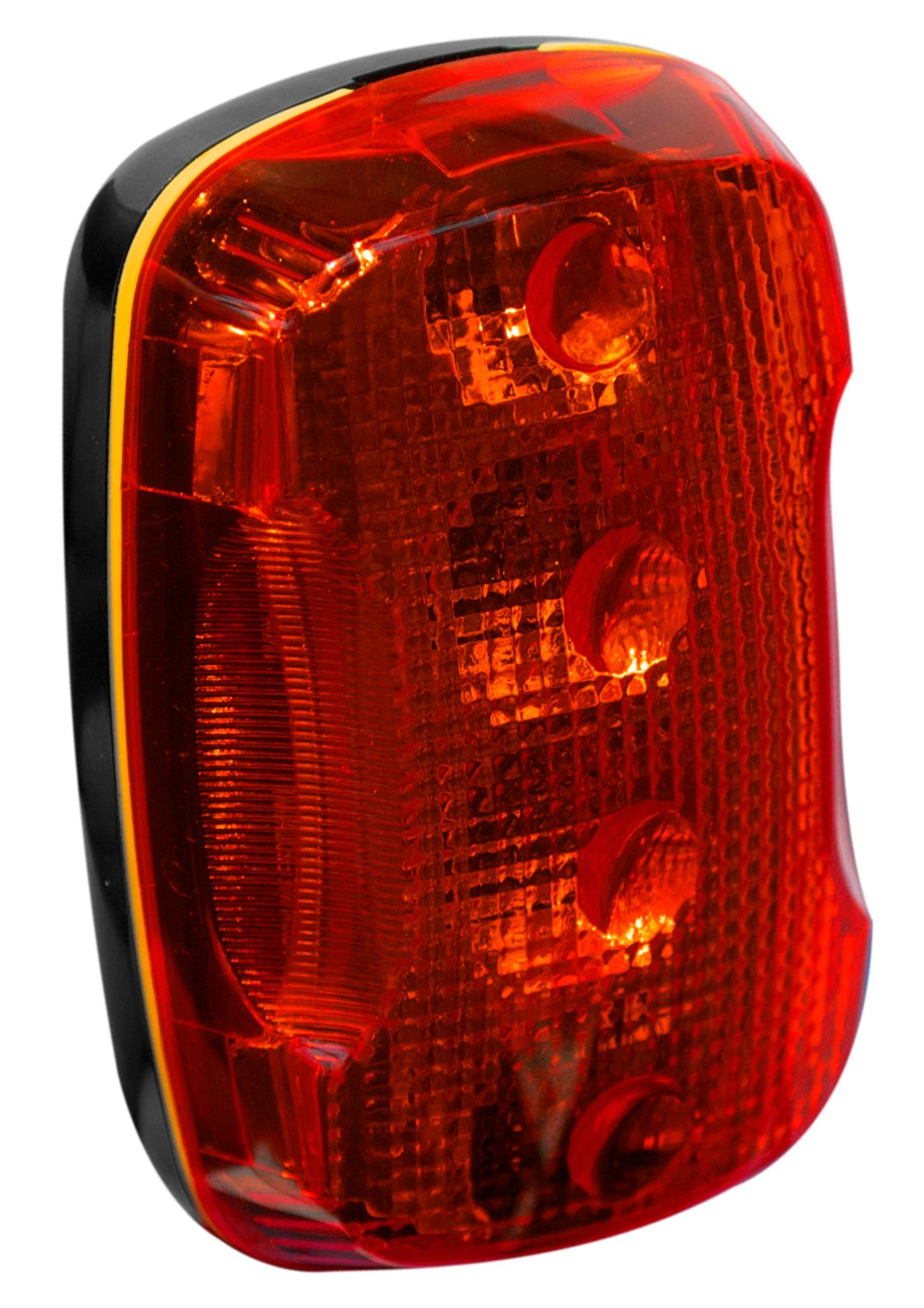FoxFire 6001654 Personal Safety Weather Resistant Light, 4 LEDs, 2-115/128'' Length x 1-51/64'' Width x 1-5/32'' Thick, Red