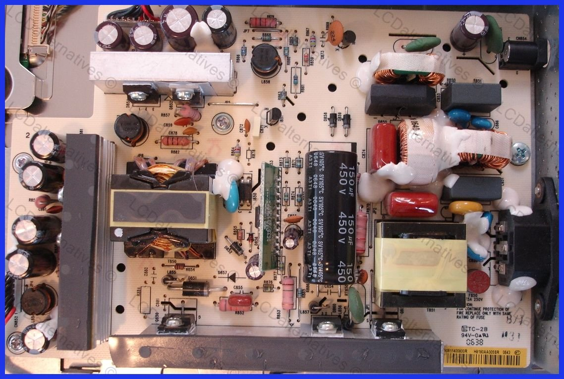 Lcd Repair Gateway Fpd2485w Monitor Capacitors Your Chance To Pick A Newbs Wiring Apart I Blew The Power In Diode On Not Entire Board Computers Accessories