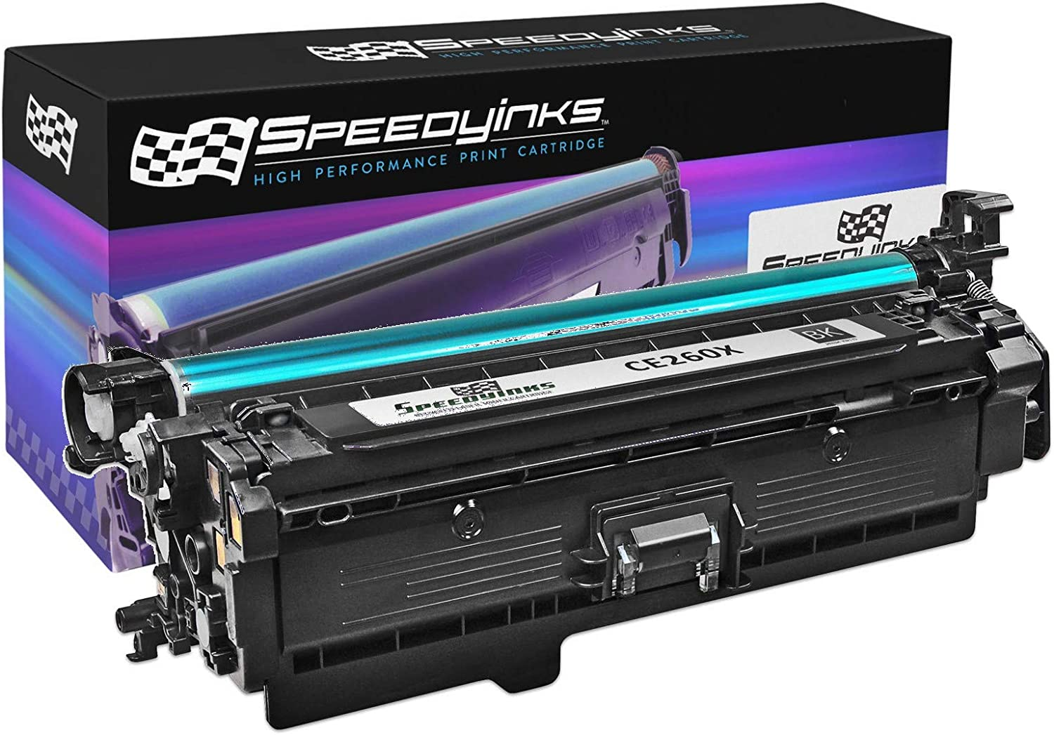 Speedy Inks Remanufactured Toner Cartridge Replacement for HP 649X CE260X High Yield (Black)