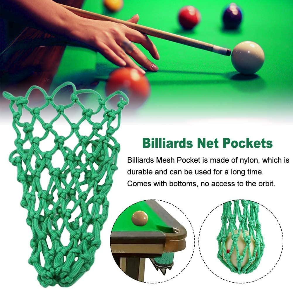 DEWIN Billiards Mesh Bag Billiards Net Pocket Net Pocket Long Service Life Billiards Table Pocket for Billiards 6PCS//Set