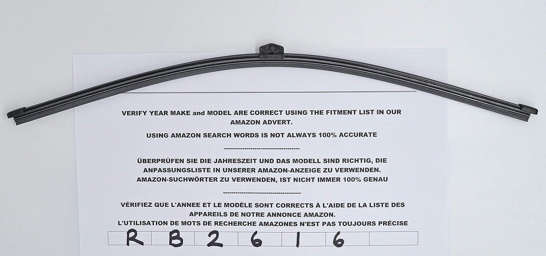 Exact Fit RB2616 - Limpiaparabrisas trasero (43 cm): Amazon.es: Coche y moto