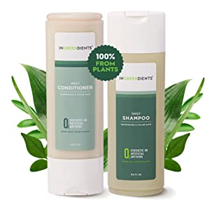 Ingreendients Sulfate Free Apple Cider Vinegar And Tea Tree Shampoo and Conditioner Set - Color Safe, Natural, Vegan, Organic Ingredients, Paraben Free, Silicone Free, Shea Butter (2 x 9.4 Fl Oz)