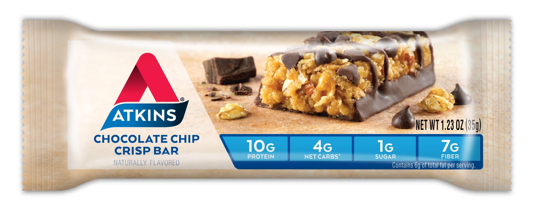 Atkins Day Break Bars, Chocolate Chip Crisp, 5 Count, 1.2-Ounce Bars (Pack of 3) by Atkins (Image #4)
