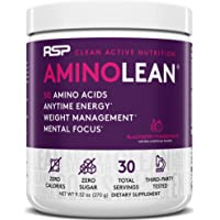 RSP Nutrition RSP AminoLean - All-in-One Pre Workout, Amino Energy, Weight Management Supplement with Amino Acids, Complete Preworkout Energy for Men & Women, Blackberry Pom, 30 (Packaging May Vary)
