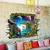 B01A8IBRXC PVC Waterproof 3D Jurassic World Dinosaur Animal Wall Sticker Art Mural Home Living Room Bedroom Decor Decal
