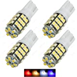 SAWE - 42-SMD T10 168 12V LED Replacement Trailer Light Bulbs T15 921 912 906 Extra Bright LED (4 pieces) (White)