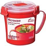 Microwave Collection Soup Mug 22.1 oz, Red (New Version)