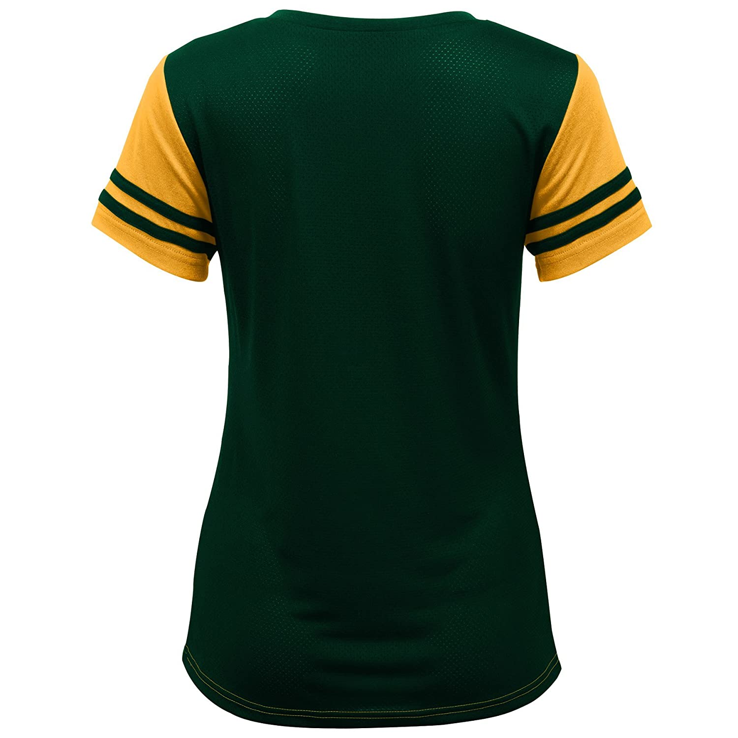 Youth Medium Outerstuff NFL NFL Green Bay Packers Youth Girls Sound Wave Short Sleeve Tee Gold 10-12