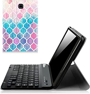Fintie Keyboard Case for Samsung Galaxy Tab E 8.0, Slim Lightweight Stand Cover with Magnetically Detachable Bluetooth Keyboard for Galaxy Tab E 32GB SM-T378/Tab E 8.0 SM-T375/SM-T377, Moroccan Love